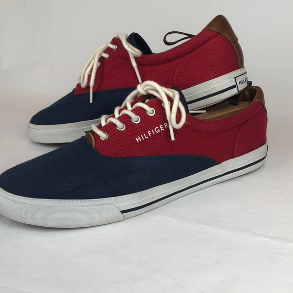 tommy hilfiger red tennis shoes